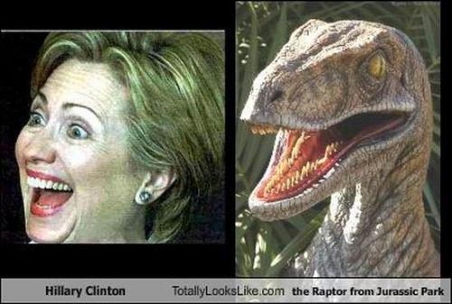 hillary clinton raptor