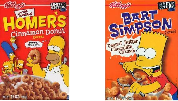 the simpsons cereals