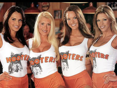 Four Hooters Girls
