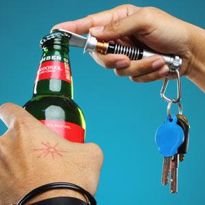 lightsaber bottle opener inuse