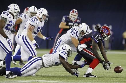 Brandon King Indianapolis Colts 2010 Preseason Buffalo Bills