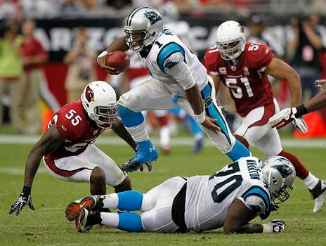 Cam Newtons First Game with the Panthers