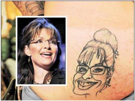 Sarah Palin Ass Tattoo