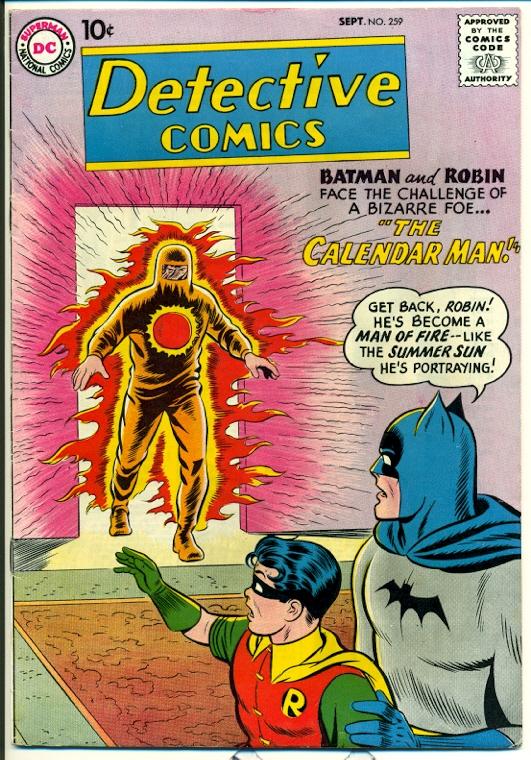 detective comics 259 Calendar Man