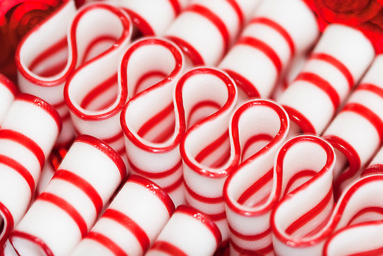 red and white christmas ribbon candy