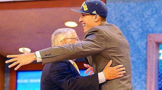 David Stern hug