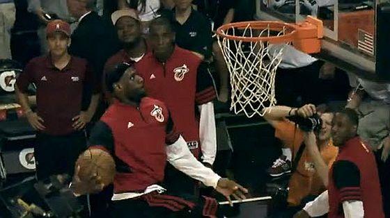 Lebron pregame dunk header