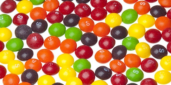 Skittles Candies Pile