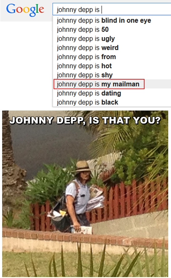 johnny depp is my mailman