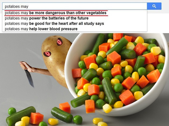 potatoes may be more dangerous than other vegetables