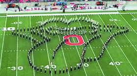 Ohio State Marching Band Tribute to Classic Rock