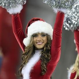 NFL Cheerleaders Celebrate Christmas