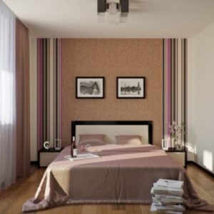 The layout of the bedroom is 4 to 3 As an example  if the bedroom for adults  then it will suit the oriental  style of decoration  With the help of curtains  you can divide the room  into