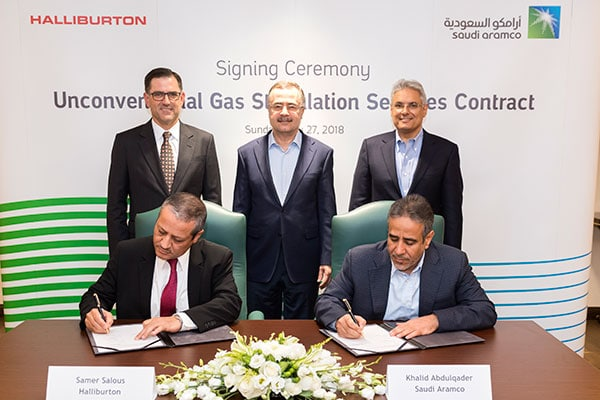 Saudi Aramco Awards Gas Services Contract to Halliburton