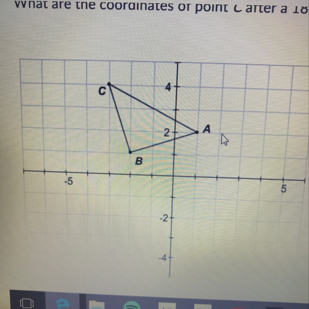 What Are The Coordinates Of Point C After A 180 Rotation
