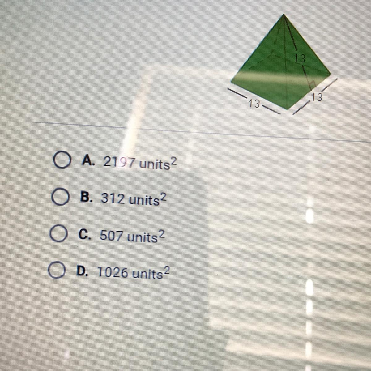 What Is The Surface Area Of The Rectangular Pyramid Below