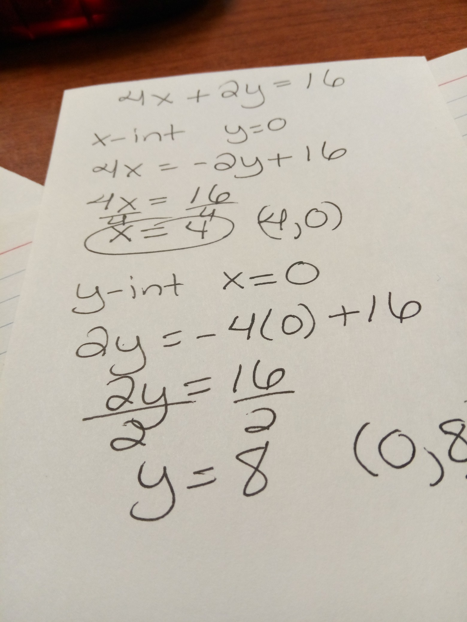 Find The Ordered Pairs For The X Y Intercepts Of The
