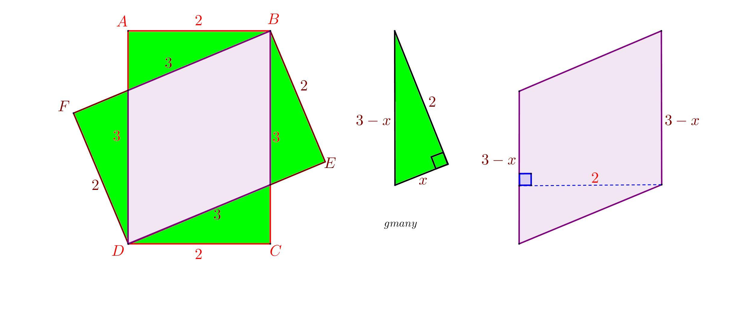 Two Tex 2 Times 3 Tex Rectangles Are Drawn As Shown