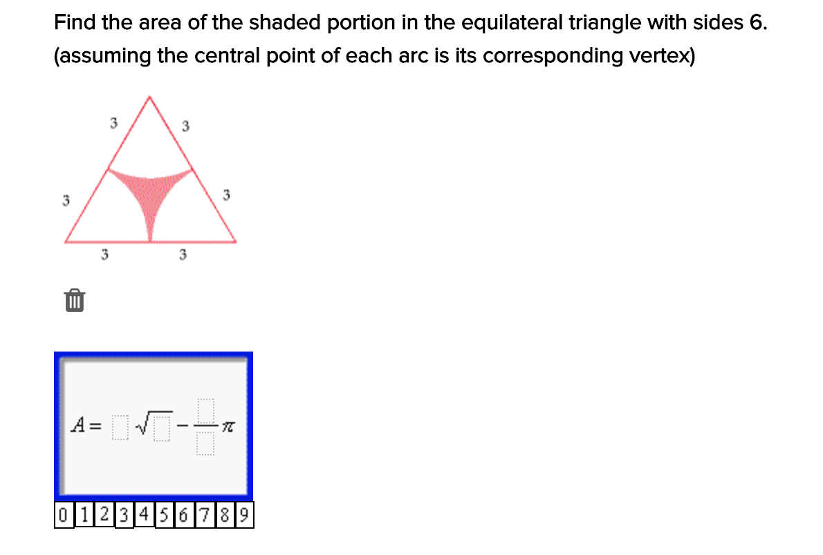 10 Points See Picture Find Area Of Shaded Region Please