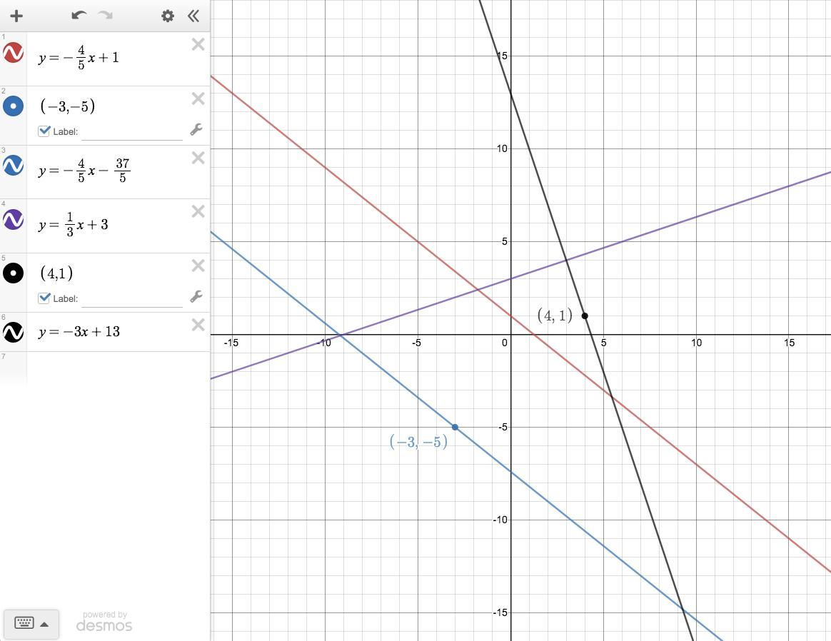 Write The Equation Of The Line Parallel Or Perpendicular