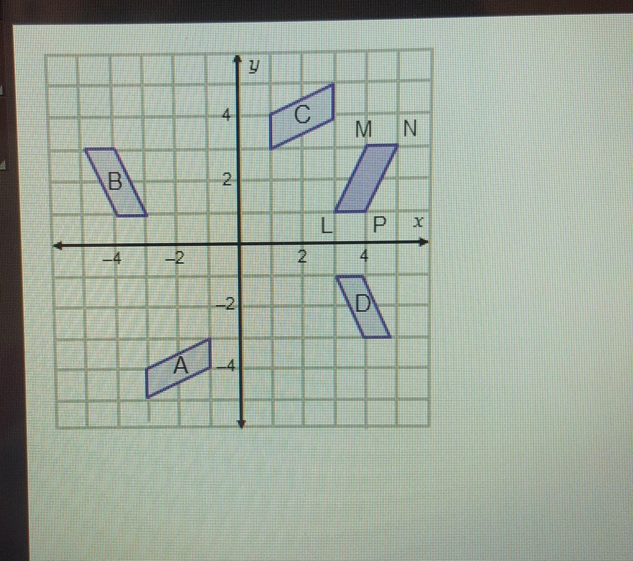 Which Figure Represents The Image Of Parallelogram Lmnp