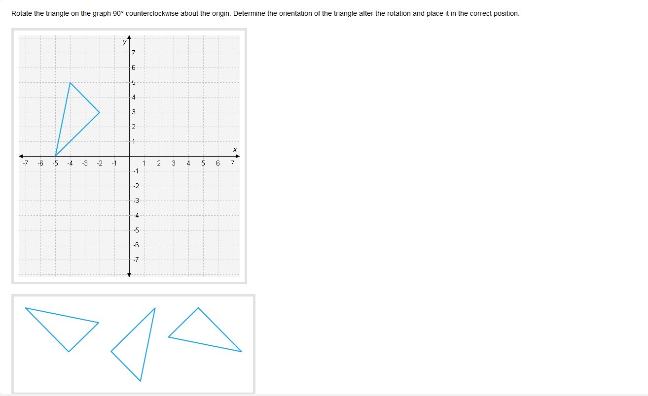 Rotate The Triangle On The Graph 90 Counterclockwise