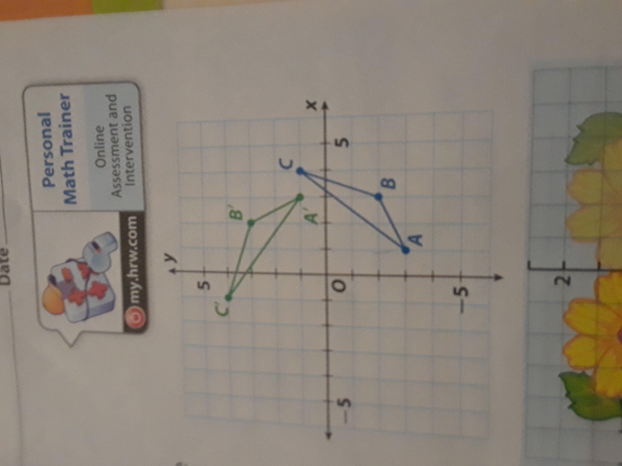 The Figure Shows Triangle Abc And A Rotation Of The