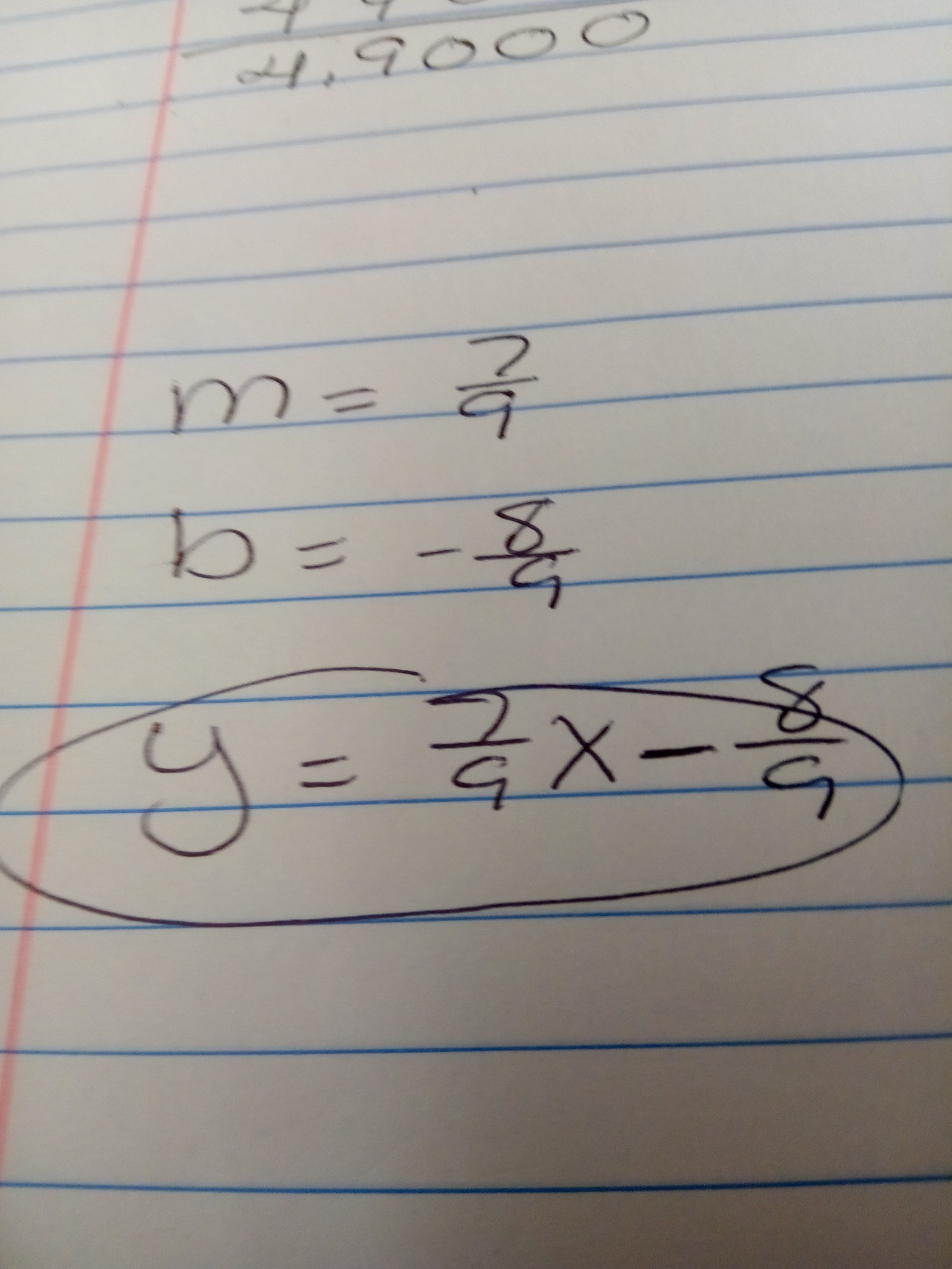 Given The Slope And Ordered Pair Write In Y Mx B Form
