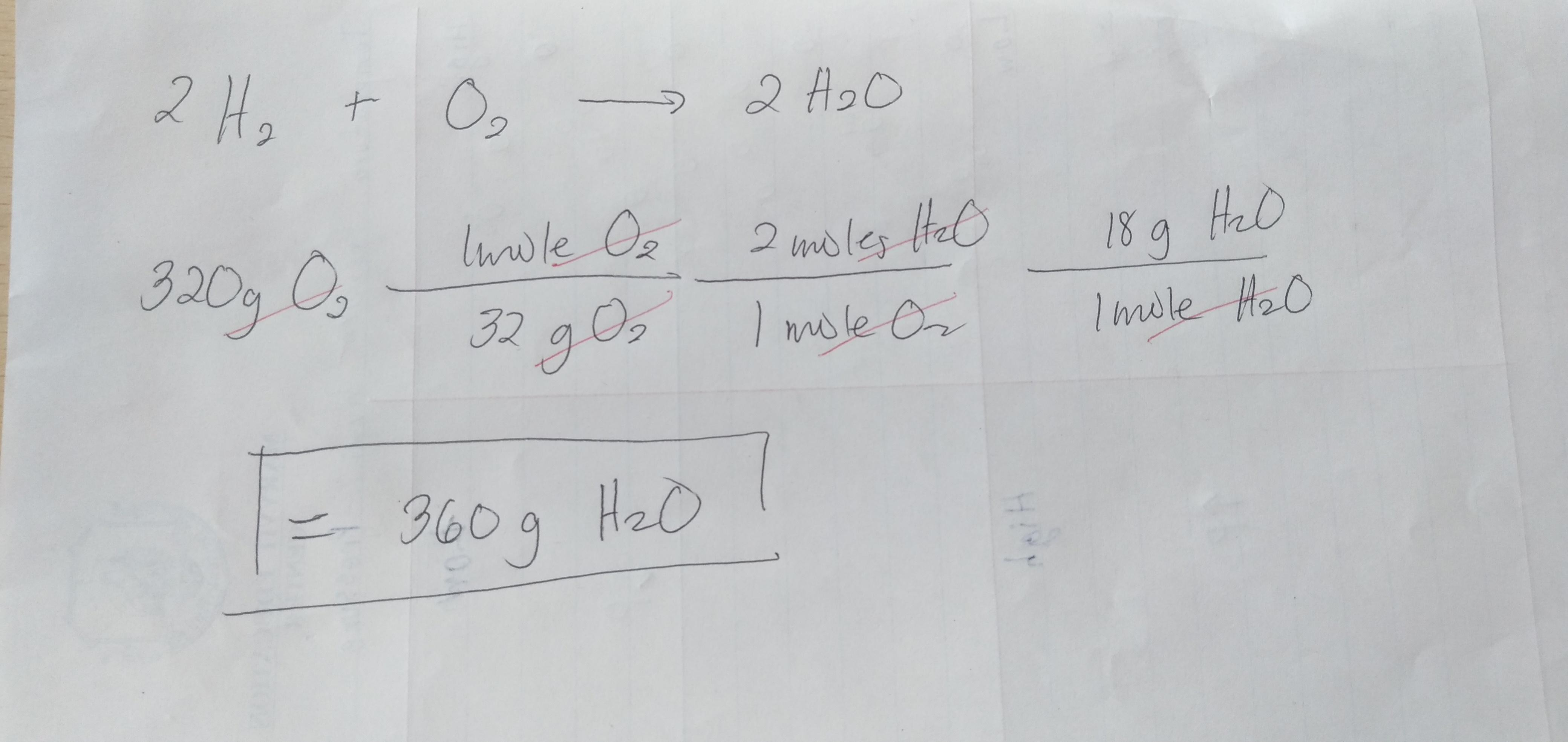 The Equation For The Formation Of Water From Hydrogen Gas