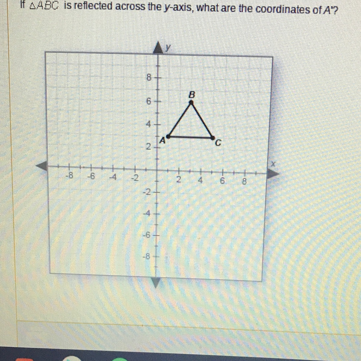 If Abc Is Reflected Across The Y Axis What Are The Coordinates Of A