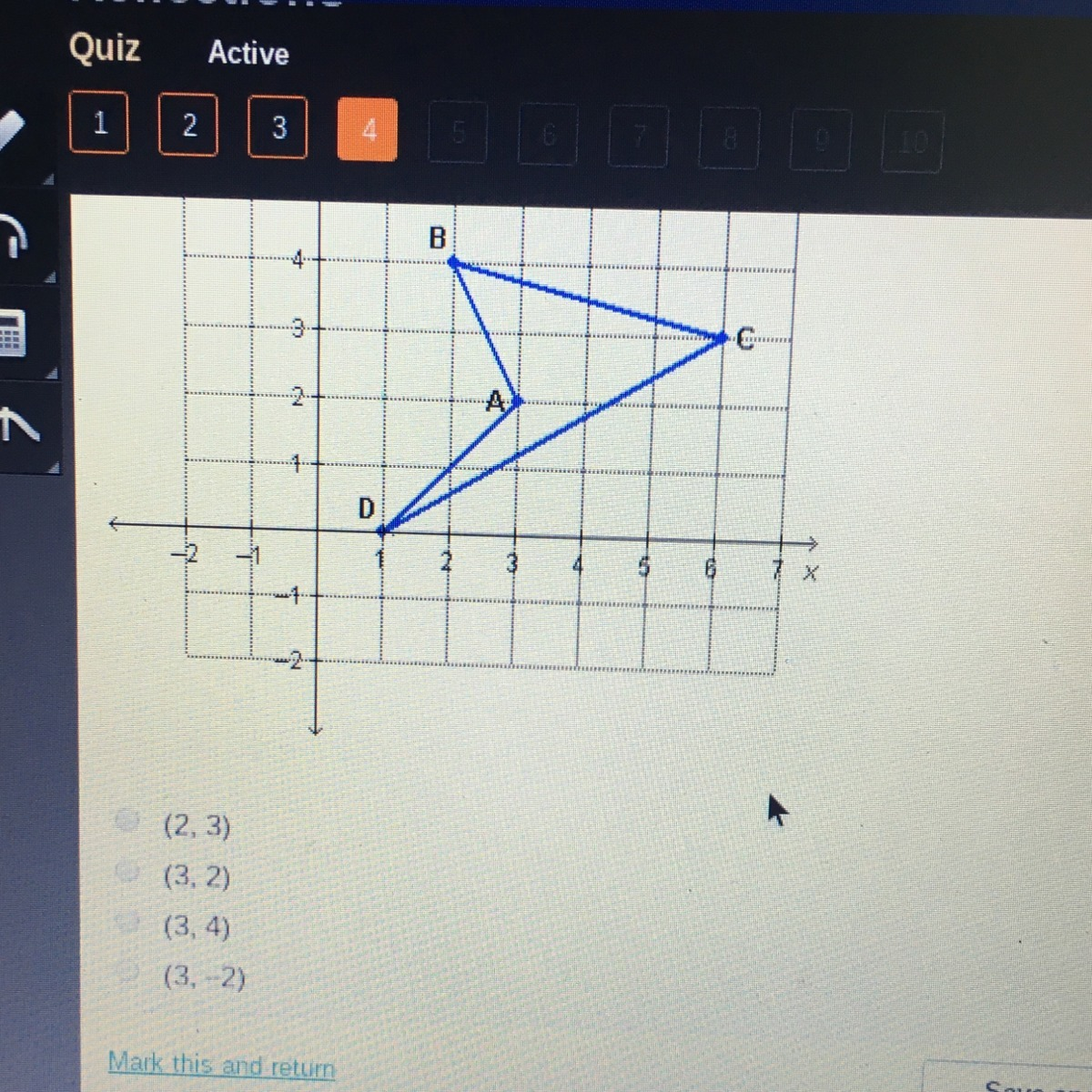 What Are The Coordinates Of A After Reflecting Across The