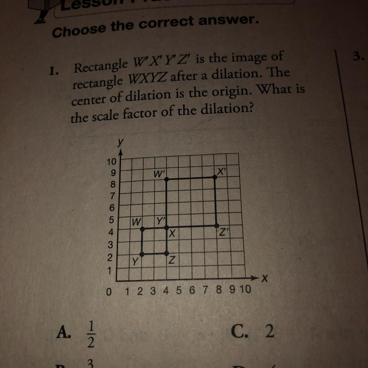 What Is The Scale Factor Of The Dilation