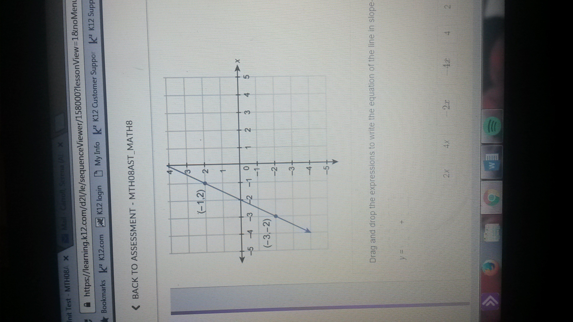 What Is The Equation Of The Line Shown In The Graph Write
