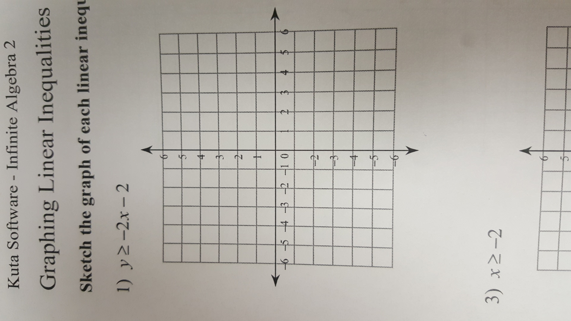32 Sketch The Graph Of Each Linear Inequality Worksheet