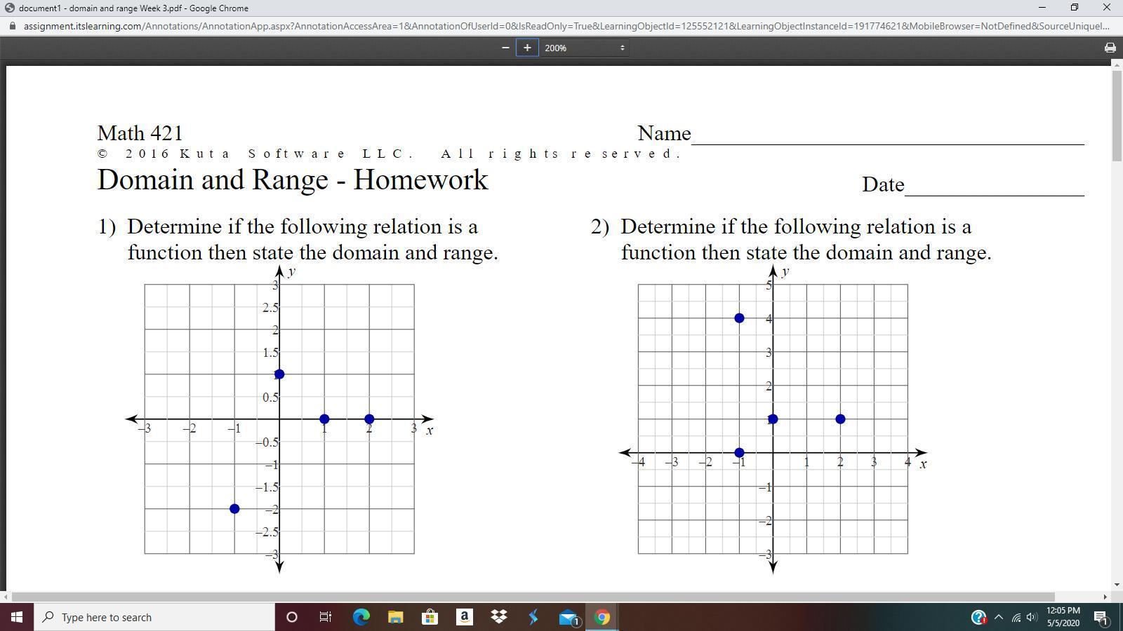 Math 421 Domain And Range Homework Answers