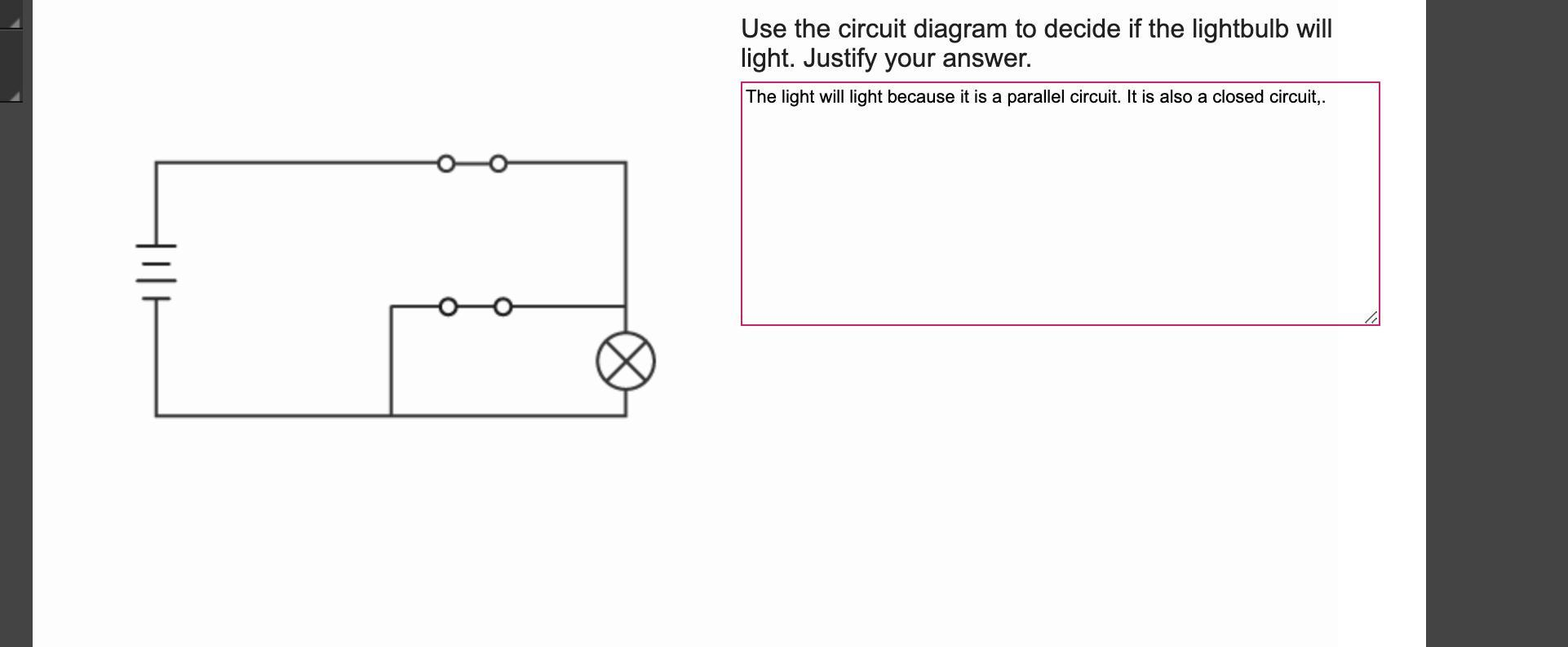 Use The Circuit Diagram To Decide If The Lightbulb Will
