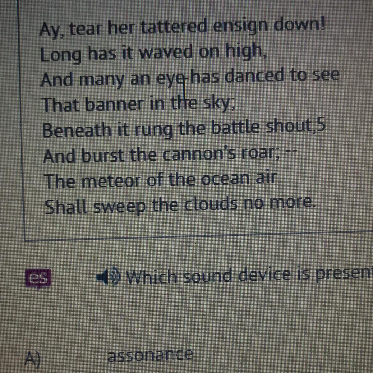 Which Sound Device Is Present In Lines Three And Four