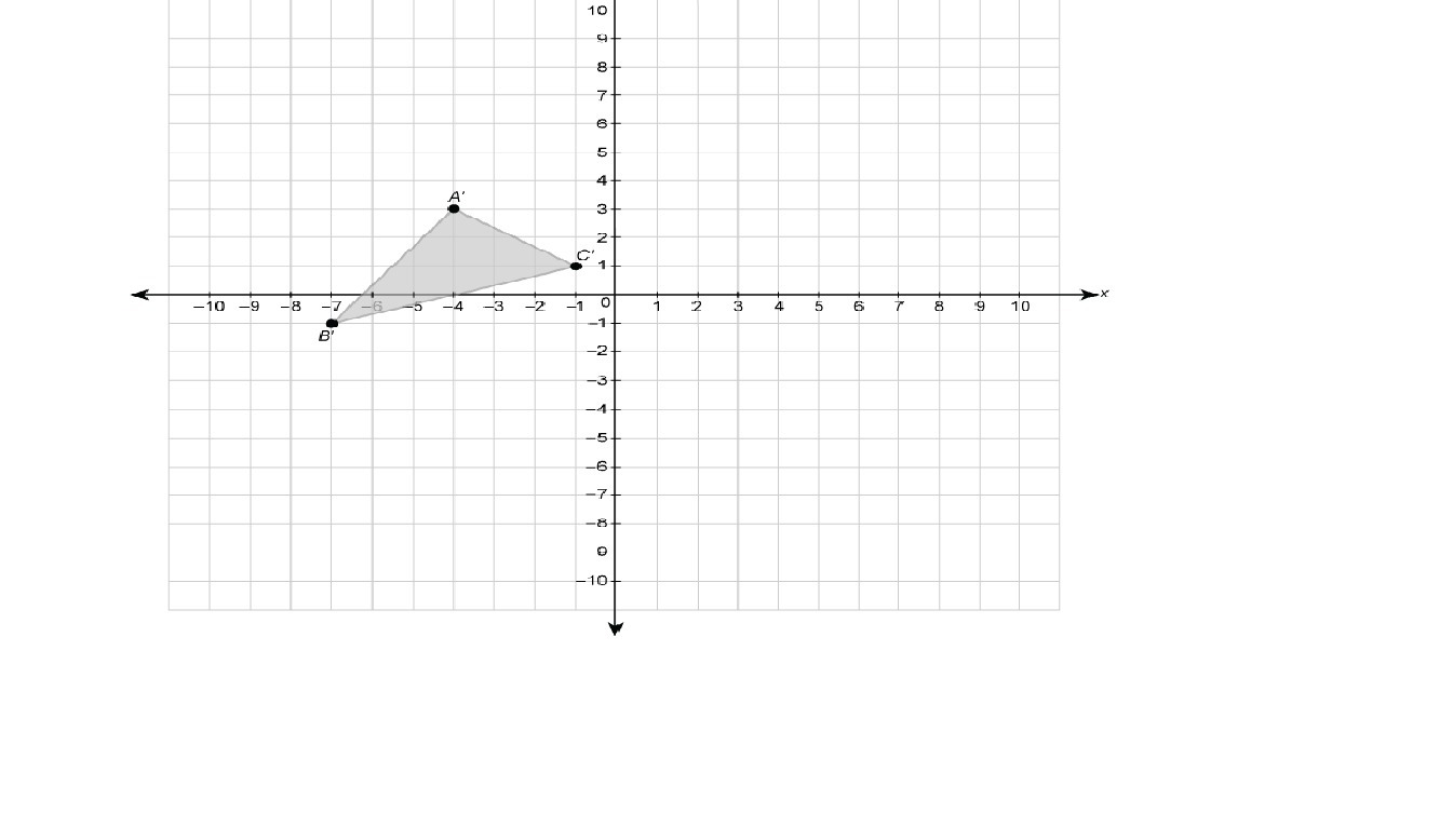 Abc Is Reflected To Form A B C The Coordinates Of Point