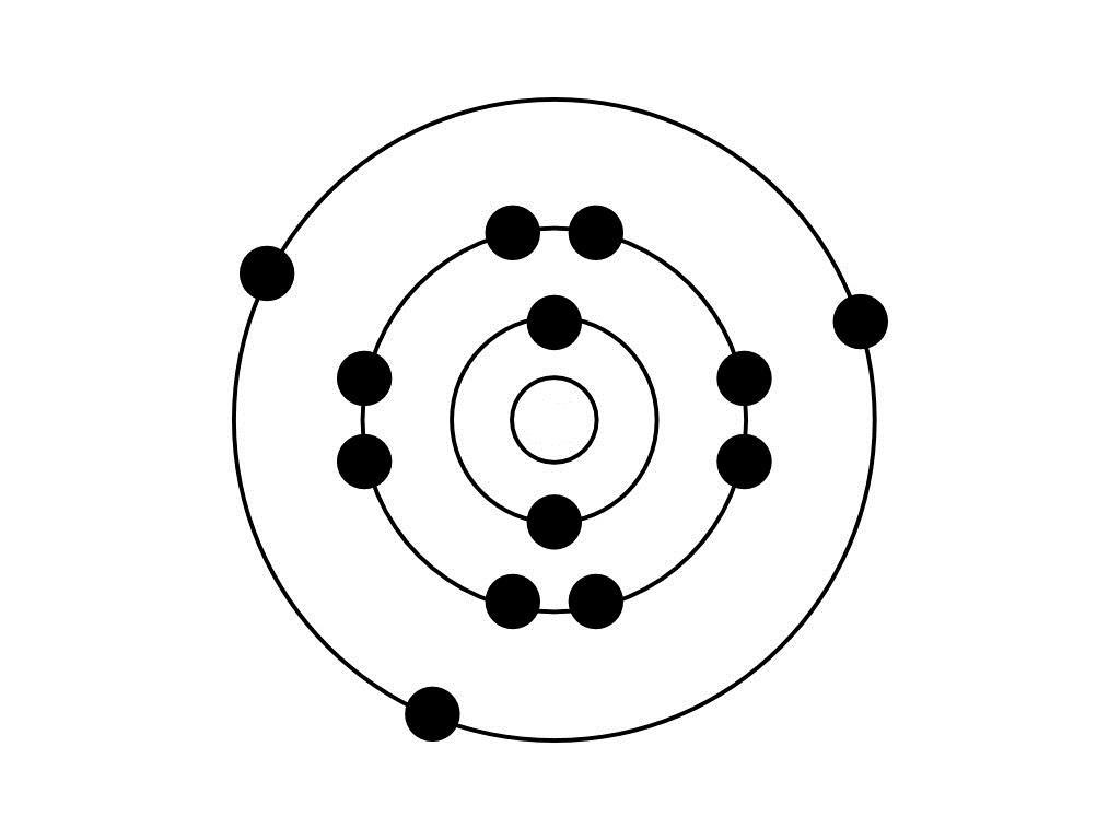 Study The Bohr Model Shown Below How Many Valence