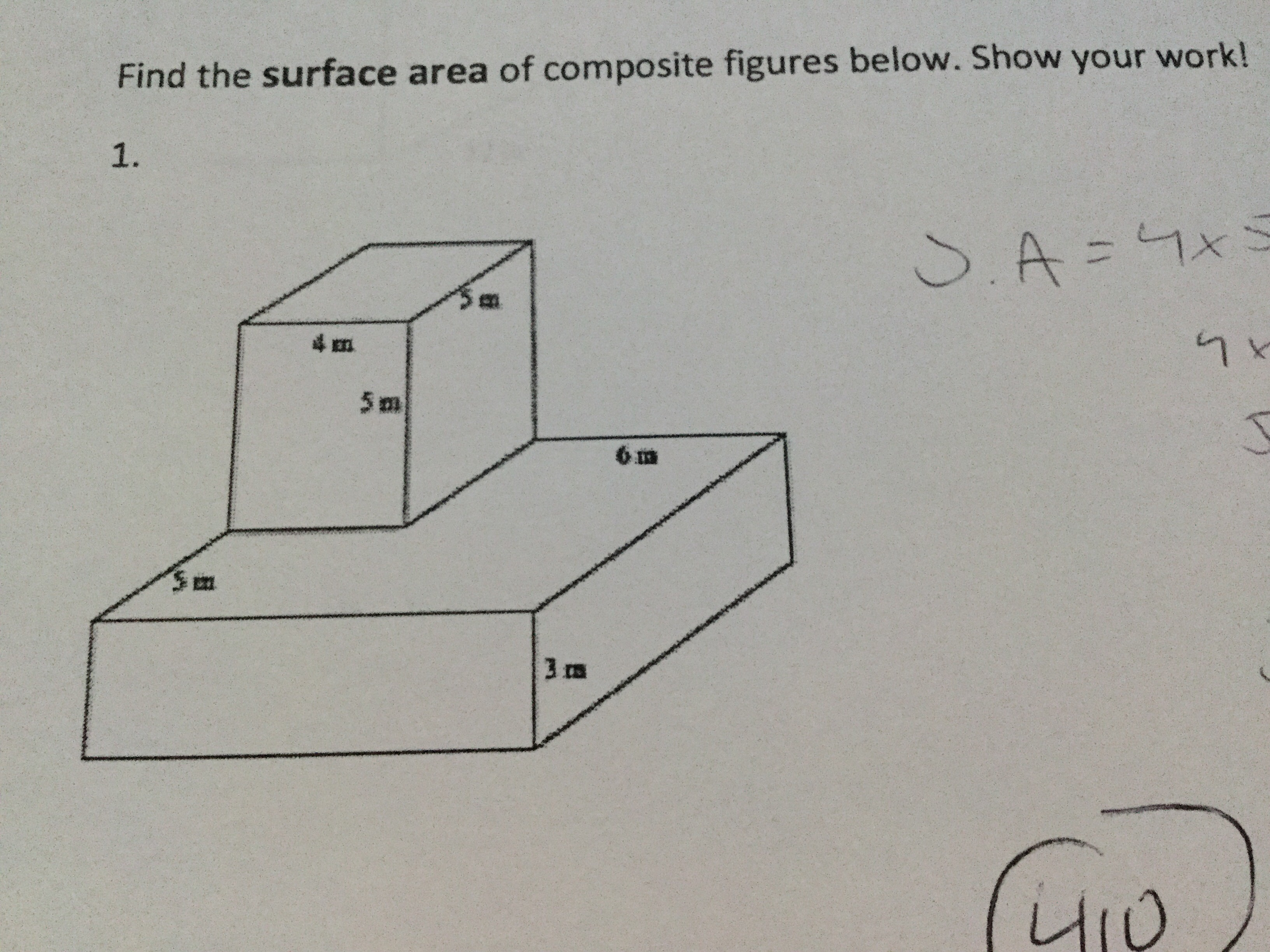 Find The Surface Area Of Composite Figure Please Help