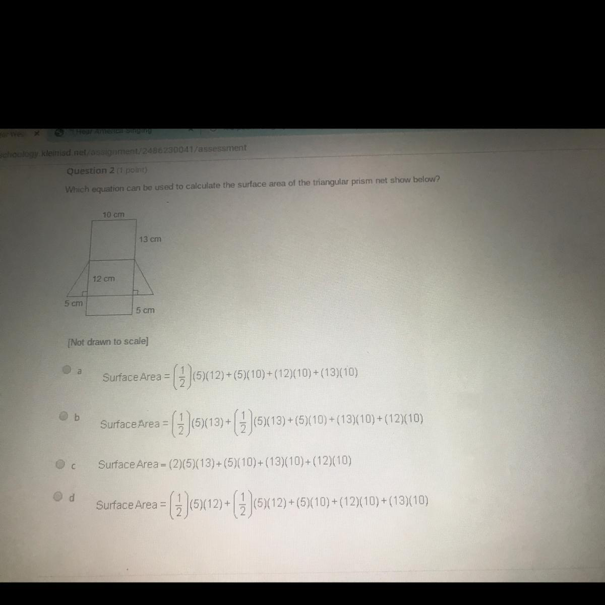 Which Equation Can Be Used To Calculate The Surface Area