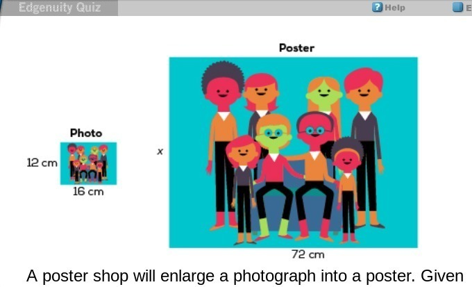 a poster shop will enlarge a photograph
