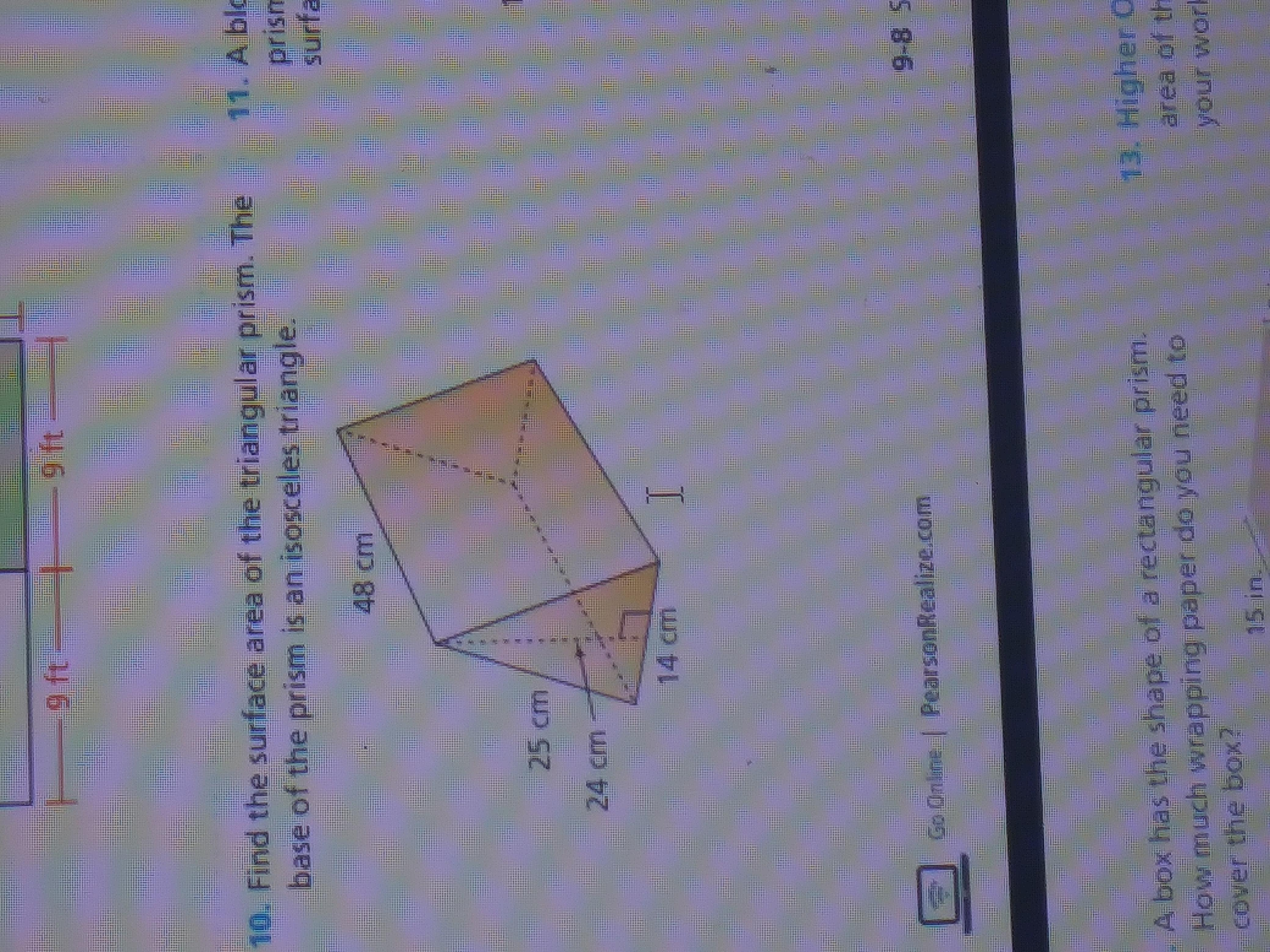 Find The Surface Area Of The Triangular Prism The Base Of