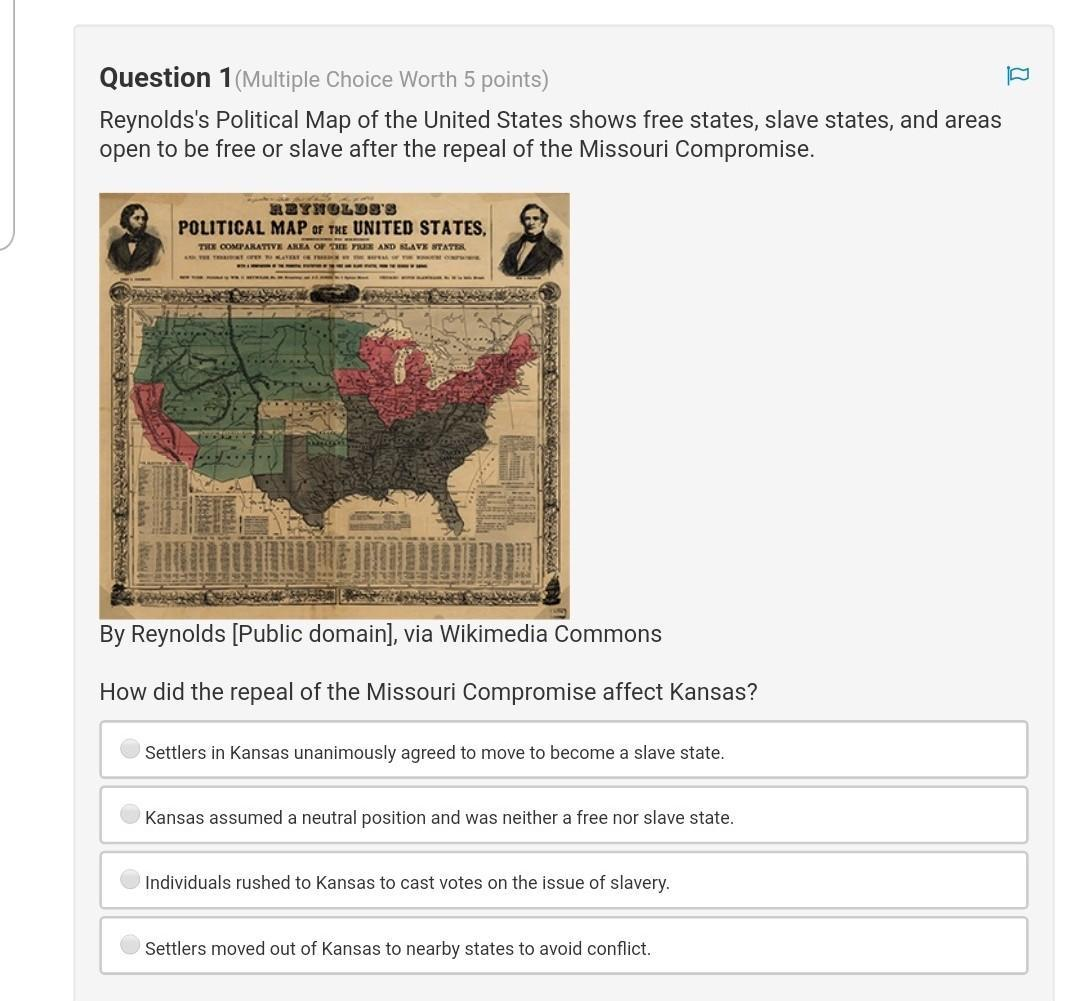 Help How Did The Repeal Of The Missouri Compromise