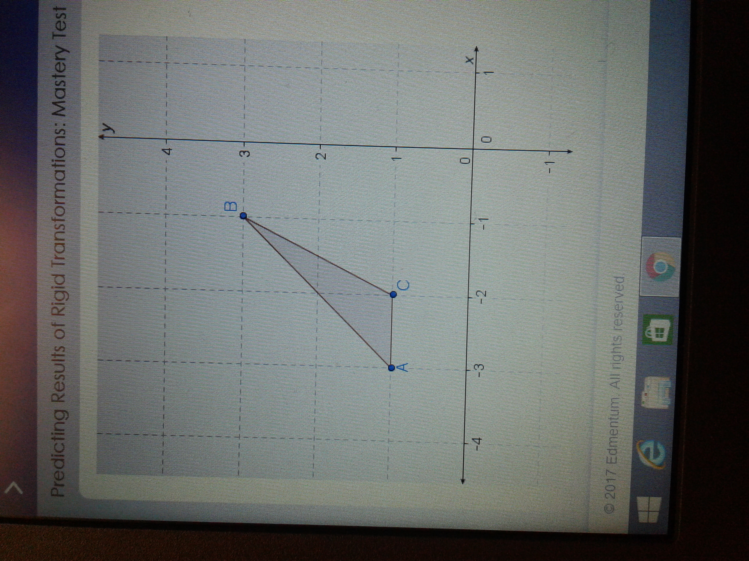 Abc Is Reflected Across The X Axis And Then Translated 4
