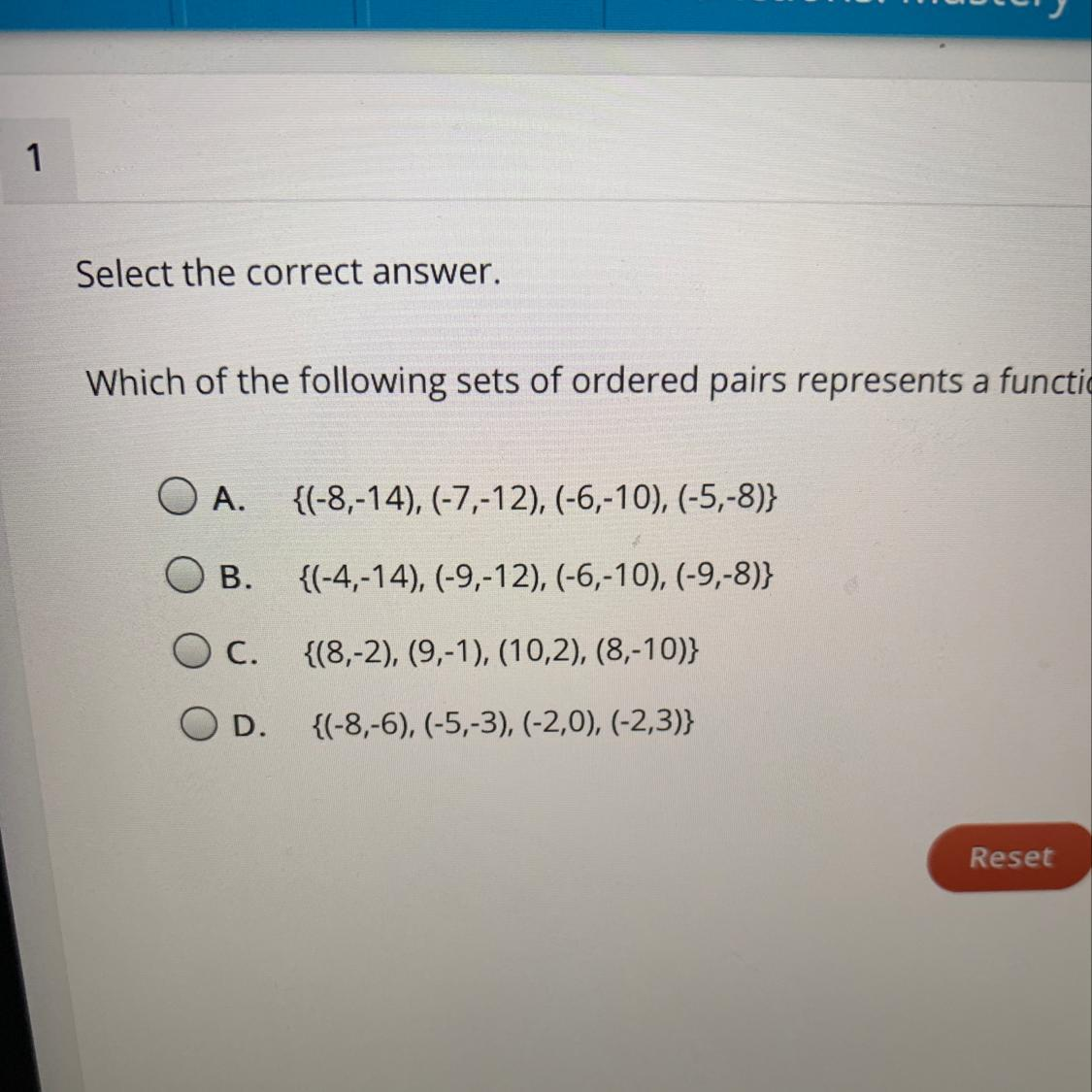 Select The Correct Answer Which Of The Following Sets Of
