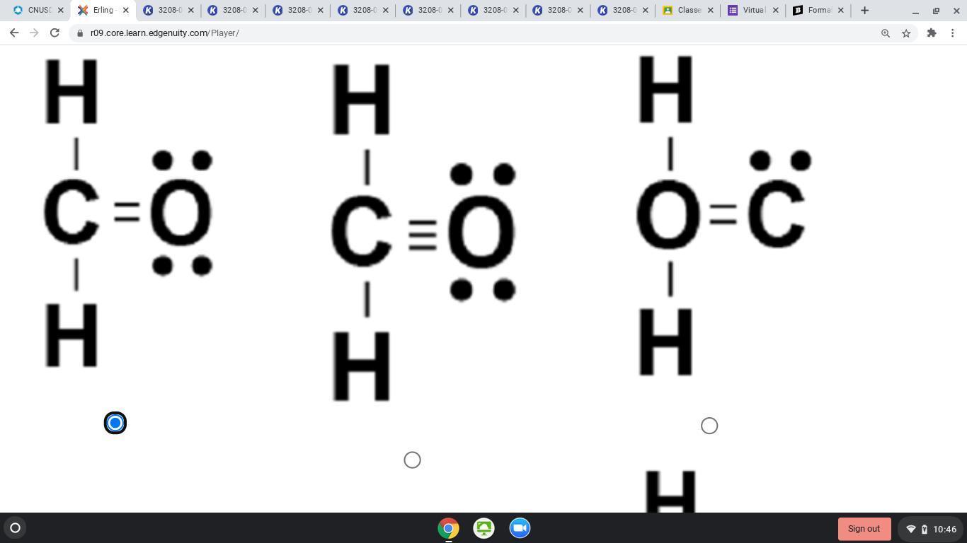 Formaldehyde Is An Organic Compound Each Molecule
