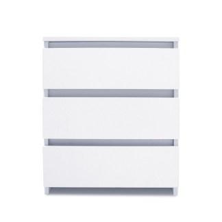 2 Drawer Nightstand Solid Wood End Table Bedroom Storage Wood Side Bedside White