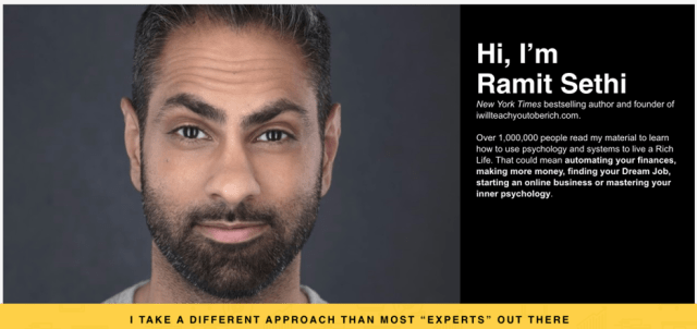 Site Web de Ramit Sethi.