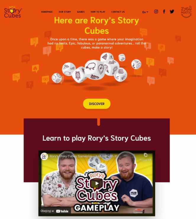 Story Cubes - website.